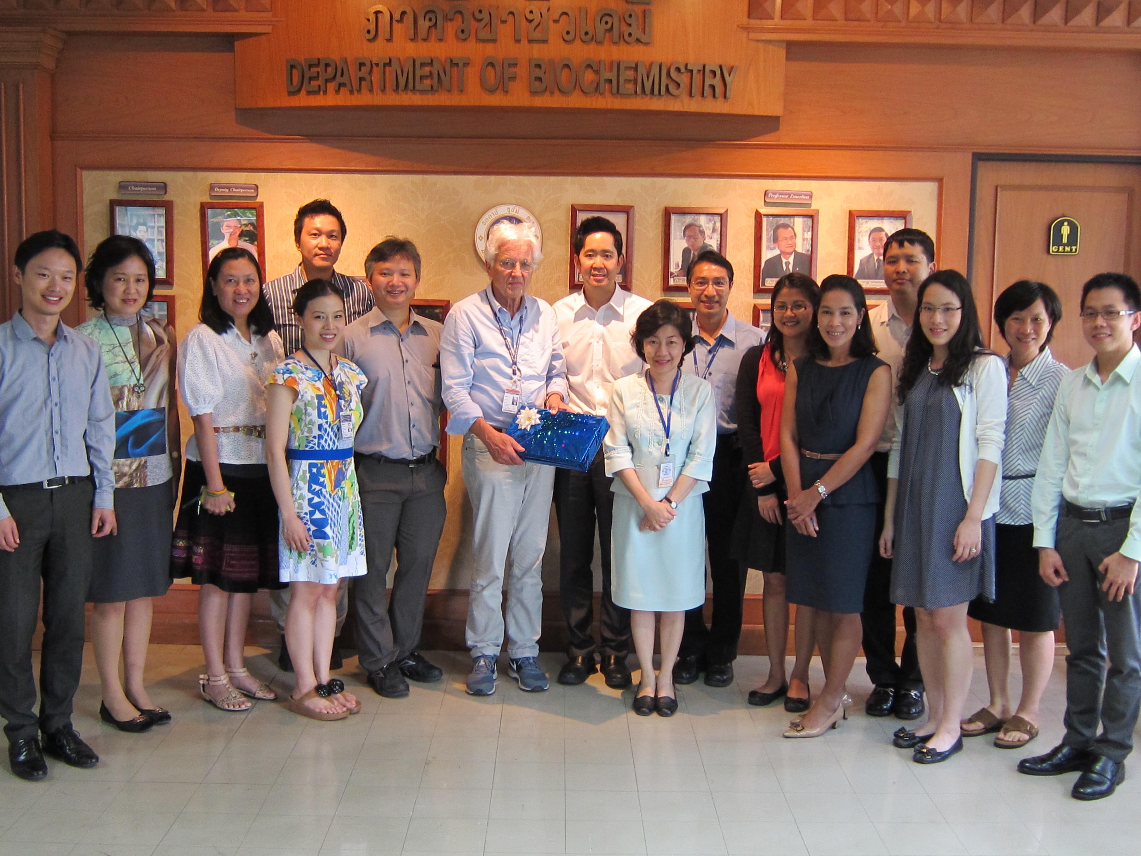 visiting professor im Department of Biochemistry an der Mahidol Universität in Thailand